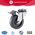 Braked Bolt Hole TPR Stainless Steel Caster
