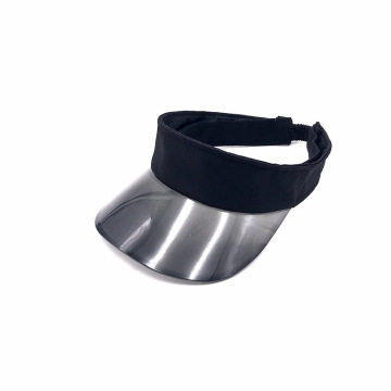 Embroidery polyester combine plastic PVC visor cap