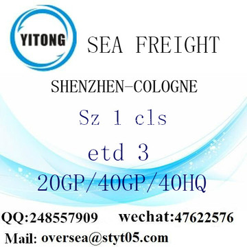 Shenzhen Port Sea Freight Shipping To Cologne