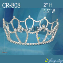 Rhinestone Cheap Round Crowns Pageant Full Round Tiaras