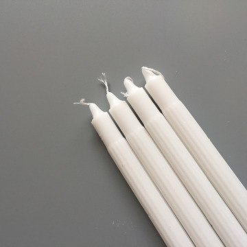 White Straight Stick Plain Smokeless Tearless Candles Bulk