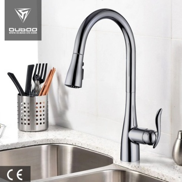 Brushed Nickel Single Hole Kitchen Faucet With Spray