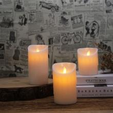 China for Flameless Candles With Remote Flameless battery operated real wax ivory pillar candle supply to Poland Exporter