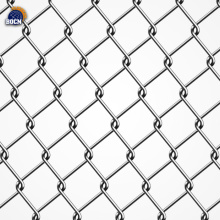 the stadium chain link fence