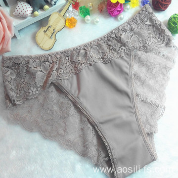 OEM wholesale dark purple sexy fancy bikini waist shaper sexy comfortable lace shorts 9871
