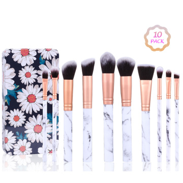 LADES 10 Pcs Makeup Brush Set