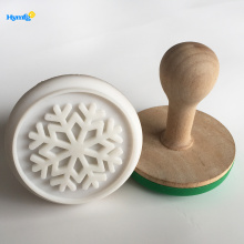 Wooden Rubber Snowflake Floral  Stamps