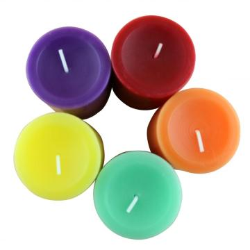 Supply colorful scented pillar candle for decoration and gift