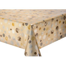 Double Face Emboss printed Gold Silver Tablecloth Edmonton