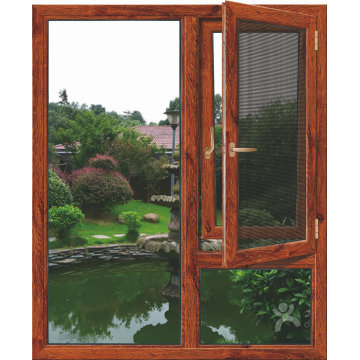 Lingyin Construction Materials Ltd aluminum casement window new design with glass factory sale