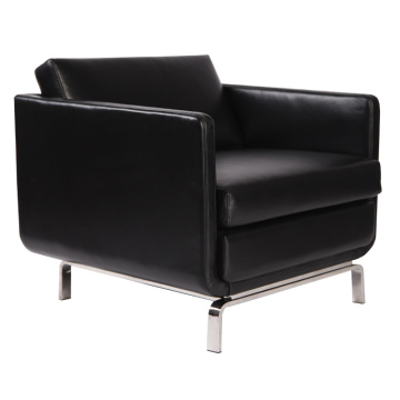 Black leather luxury modern gaia lounge chair