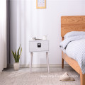 Factory Wholesale Solid Wood Bedside Table Modern Night Table Wood White Bedside