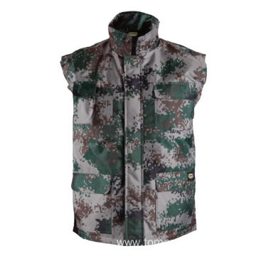 Camouflage 100% polyester Winter Vest