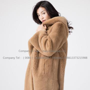 Kopenhagen Reversible Mink Fur Hooded Overcoat
