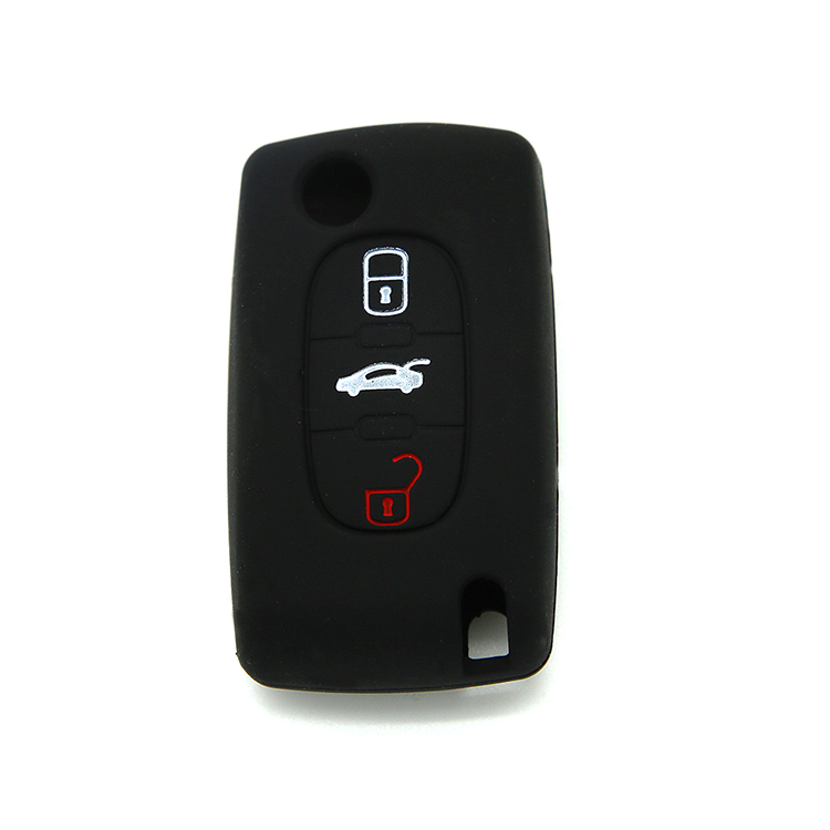Peogeot silicone car key case