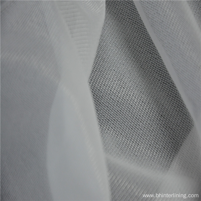 weft insert knitted stretch fusible interlining fabric