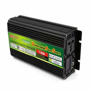 12V 220V DC To AC 1000W Off Grid Power Inverter With Battery Charger For Home