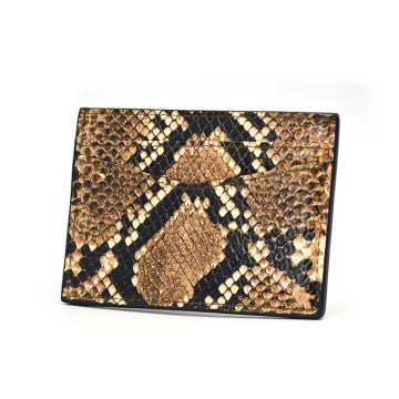 Fashion Python Snakeskin Business Name Credit Card Holder