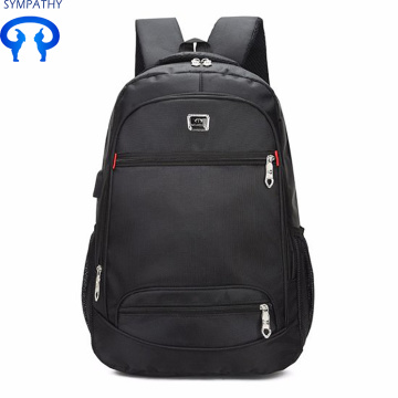 Double shoulder computer bag backpack with usb charging