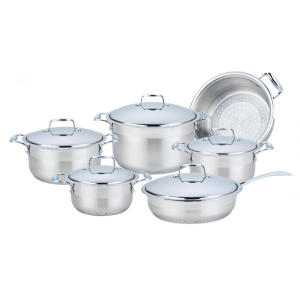 High Quality for Cookware Set 11 Pieces Stainless Steel Wide Edge Cookware Set export to South Korea Factory