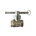 Brass magnetic lockable ball valves