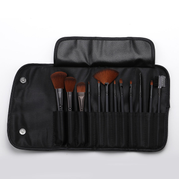 12 braune Kopf Make-up Pinsel mit Stoffbeutel
