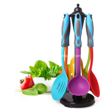 Best-Selling for Steel Tube Kitchen Tools Durable Cooking Set Silicone Kitchen Utensils export to Poland Importers