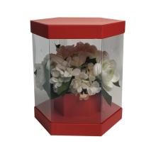 China supplier OEM for Beautiful Flower Boxes Hexagonal plastic clear valentine flower box export to Burundi Factory