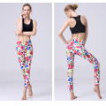 Custom printed women workout capri leggings fitted stretch