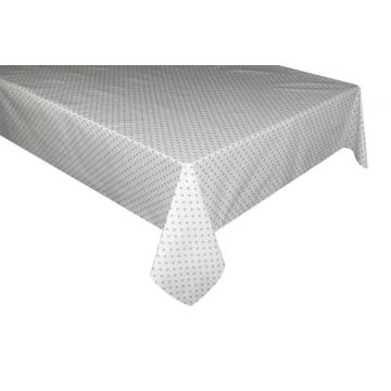 Elegant Tablecloth with Non woven backing White