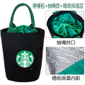 Hand bag canvas insulated cooler bag