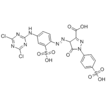 1H-Pyrazol-3-carbonsäure, 4- [2- [4 - [(4,6-dichlor-1,3,5-triazin-2-yl) amino] -2-sulfophenyl] diazenyl] -4,5- Dihydro-5-oxo-1- (4-sulfophenyl) - CAS 12225-86-4