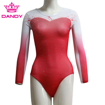 Sublimated Ombre Gymnastics Leotards Australia