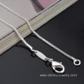 Mens Sterling Silver Box Chain Necklace 925 Silver Plating
