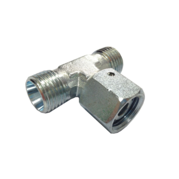 BCBD Hydraulic Branch Tee Fittings With Swivel Nut