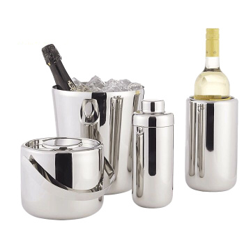 Stainless Steel Double Wall Beer Ice Bucket