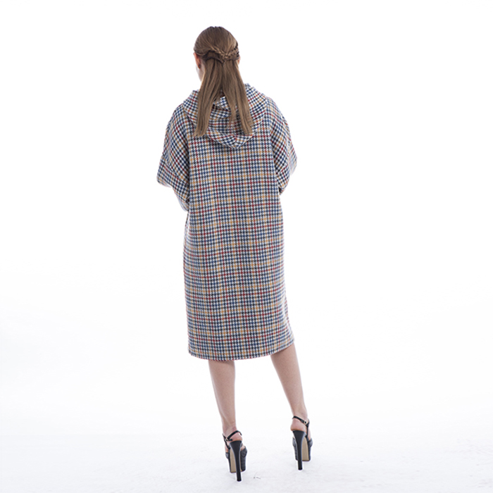 Coloured Checked Cashmere Winter Dress
