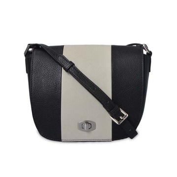 Medium Black and White Crossbody Purse Women Bag