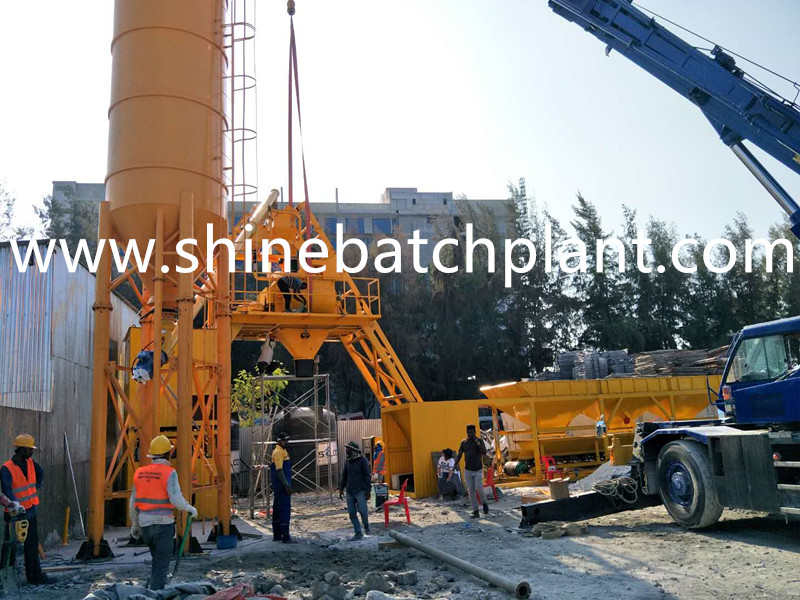 No Foundation Concrete Mixer Plant