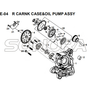 E-04 R CARNK CASE&OIL PUMP ASSY for XS175T SYMPHONY ST 200i Spare Part Top Quality