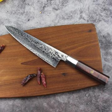 Damascus Steel Kitchen Knife Hammered Finish knife