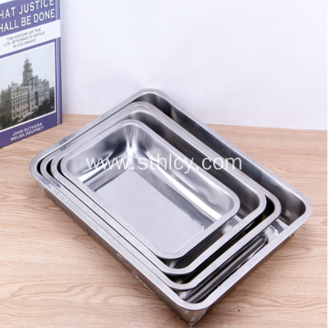 Multi-use Grill Hotel Square Stainless Steel Tray