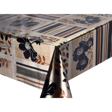 Double Face Emboss printed Gold Silver Tablecloth Large