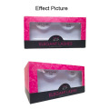 Pink Folding Eyelashes Cosmetic Paper Box with Window