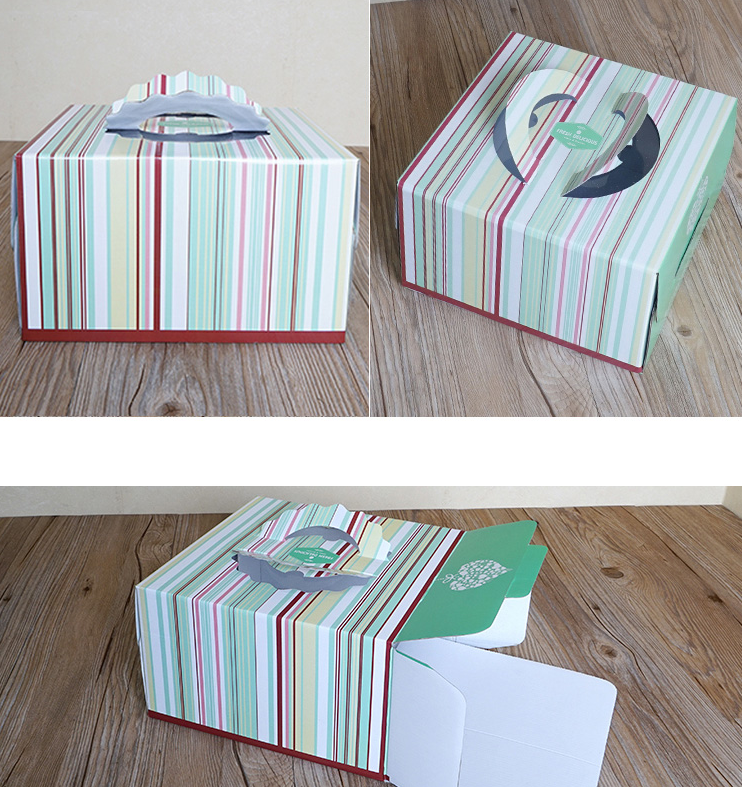 Paper box for birthday cake packaging