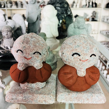 Wholesale Price for China Animal Sculpture,Stone Dog Statue,Stone Owl Statue Manufacturer and Supplier Pink granite pumpkin smile export to France Manufacturer