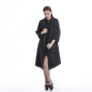 Manteau long cardigan en cachemire