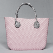Good Quality for O Bag Kabelka Custom O bag classic diamond EVA tote handbag supply to Portugal Factories