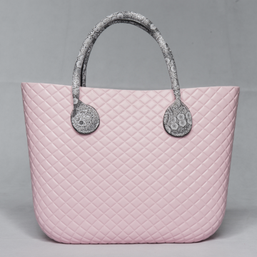 Custom O bag classic diamond EVA tote handbag