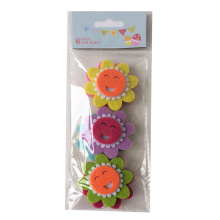 Colourful Easter sticker with sunflower pattern